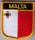 Malta Embroidered Flag Patch, style 07.